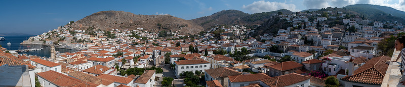View across the town of Hydra, Greece.