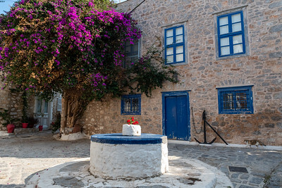 Interesting courtyard in Hydra, Greece.