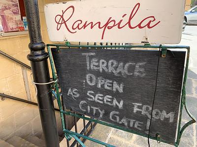 Rampila restaurant is tucked unto a tunnel in the ancient city ramparts, in Valleta, Malta.