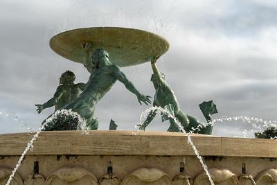 Triton fountain in Valleta, Malta.