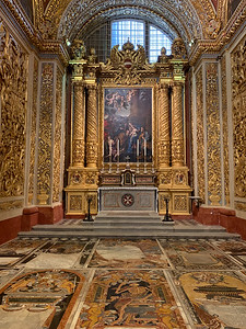 Co-Cathedral of St. John the Baptist, in Valleta, Malta.
