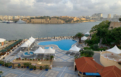 View from our hotel room at Grand Excelsior Hotel, Valleta, Malta.