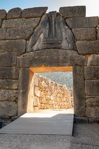 Lions' Gate, the entrance to Mycenae, Greece.