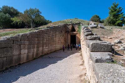 Treasury of Atreus, near Mycenae, Greece.