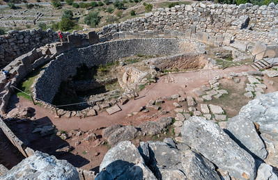Grave Circle A, at Mycenae, Greece.