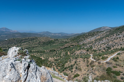 Distant views from archaelogical site of Mycenae, Greece.