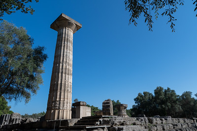 One column remains from the massive temple of Zeus.