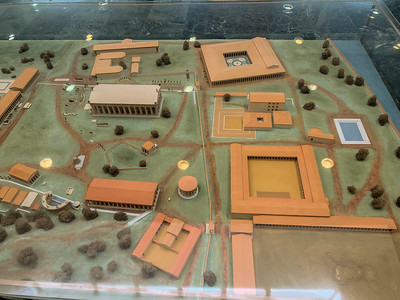 Model of ancient Olympia.