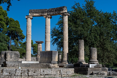 Philippeion temple at ancient Olympia.