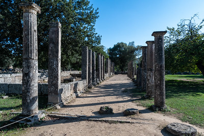 "Palaistra - One of the two ""gymnasium"" at ancient Olympia."