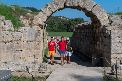 The entrance to the stadium at ancient Olympia.