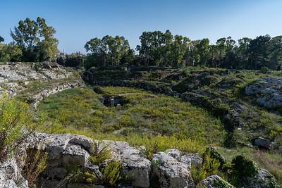 Roman amphitheater, Siracusa, Sicily.