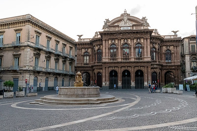 A lovely square, Catania, Sicily.