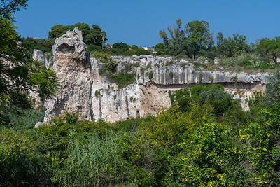 Limestone quarry, used by the Greeks ~500BC.  Siracusa (Syracuse), Sicily.