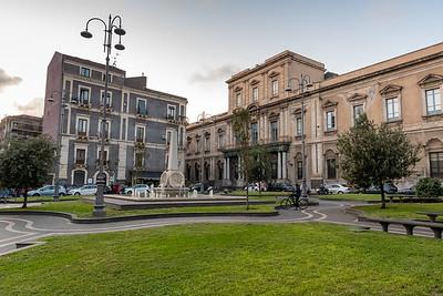 Saturday evening in the square, Catania, Sicily.