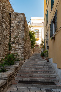 A side alley in Taormina, Sicily.