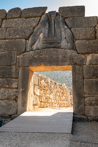 Lions' Gate, the entrance to Mycenae, Greece.