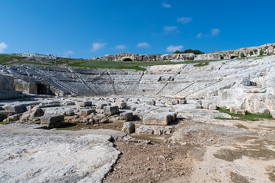 Greek theater (seats 15,000), Siracusa, Sicily.