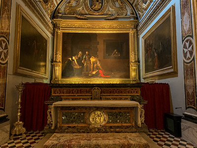 "Caravaggio's ""Beheading of St. John the Baptist"", in Co-Cathedral of St. John the Baptist, in Valleta, Malta."