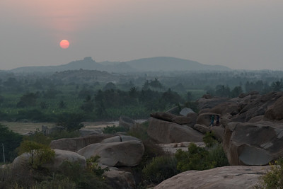 Sunset from Hemakuta Hill, Hampi.