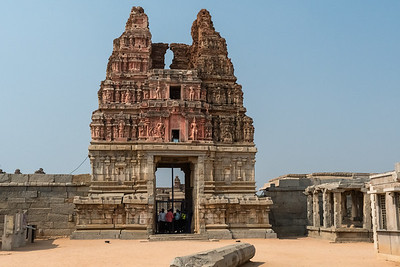 The main entrance to Vitthala Temple. Hampi.