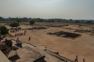 View from the Mahanavami Dabbi, the festival platform at Royal Enclosure, Hampi.