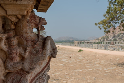 Kuduregombe Mandapa, at the Vitthala Temple complex. Hampi.
