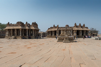 Courtyard of Vitthala Temple. Hampi.