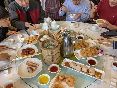 Dim sum lunch at CUHK restaurant; Hong Kong.