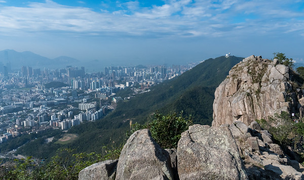 View of Hong Kong from the top of Lion's Rock.