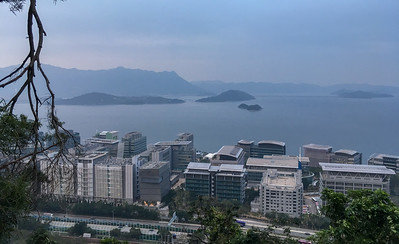 View from the top of the CUHK campus, overlooking the harbor.