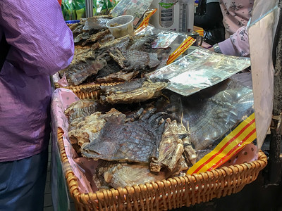 Dried crocodile claws in a market in Hong Kong.