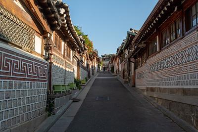 Bukchon neighborhood of Seoul.