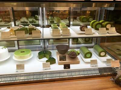 Delicacies at a Green-Tea shop in Seoul.