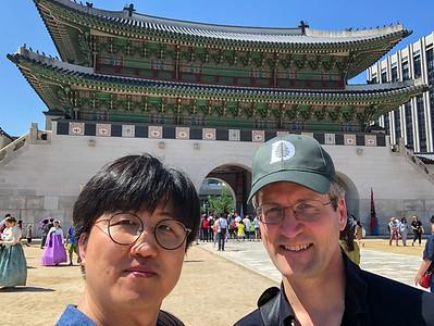 Minho and David at the Gyeongbokgung palace.