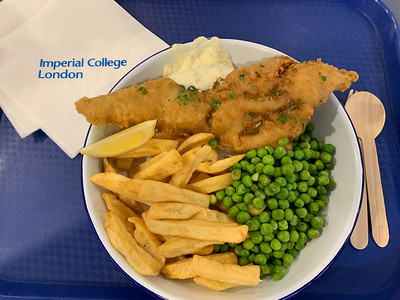 Fish & Chips at Imperial College London.