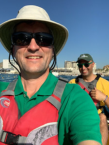 David and Hamed kayaking in Los Cabos, Mexico.