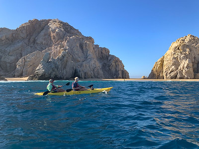 Kayak tour of Los Cabos, Mexico.