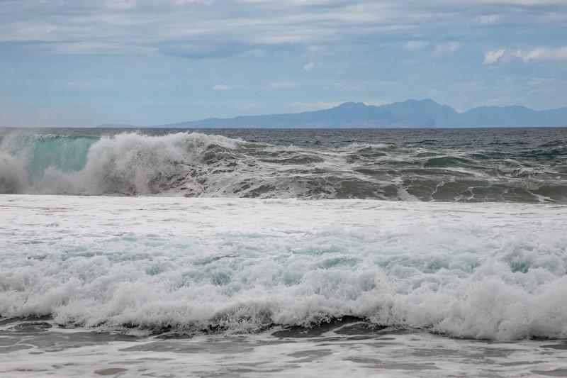 Papohaku Beach, Molokai, with Oahu in background
