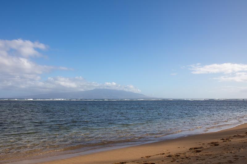 Murphy's Beach, Molokai, with Lanai in background