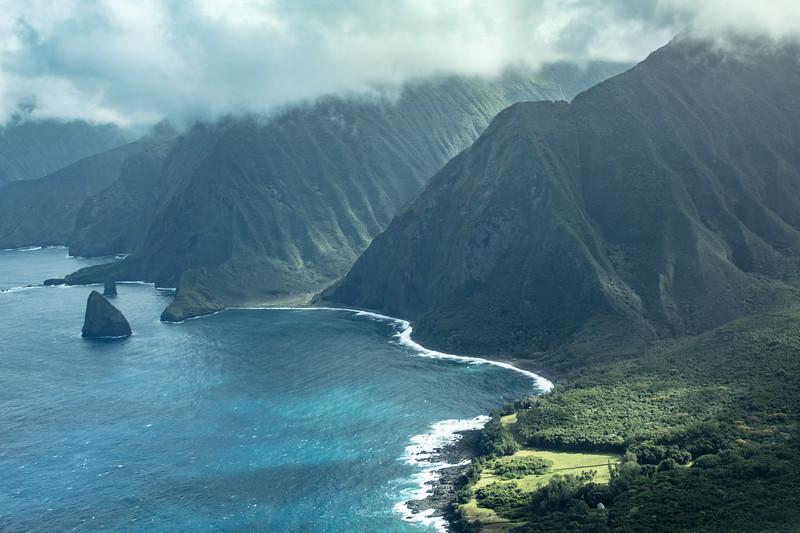 Molokai coastal cliffs near Kalaupapa