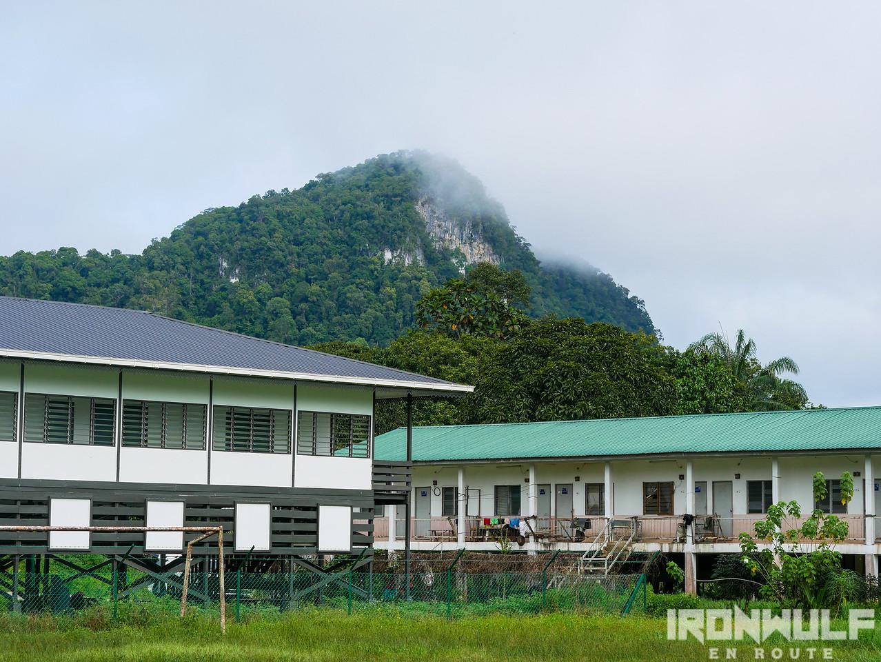 The Batu Bungan rocks overlooking the small village