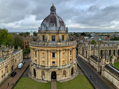 View from University Church tower, Oxford.
