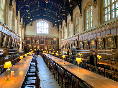 Dining Hall at Christchurch College, Oxford - the inspiration for Hogwarts dining hall.