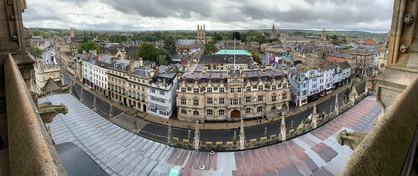 Panorama from University Church tower, Oxford.