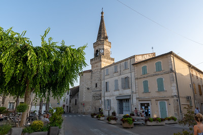 Church in the center of Maillane, Provence.