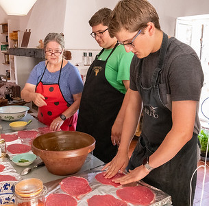 French cooking class, at an old farmhouse in Provence.