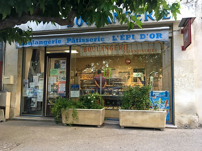 Boulangerie in Maillane, Provence.