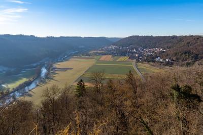 View of the village of Böstingen from Schloss Weitenburg, in Sulzau, Germany, original home of Franz Kotz.
