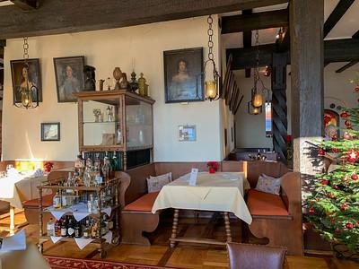 The dining room at Schloss Weitenburg, in Sulzau, Germany, original home of Franz Kotz.